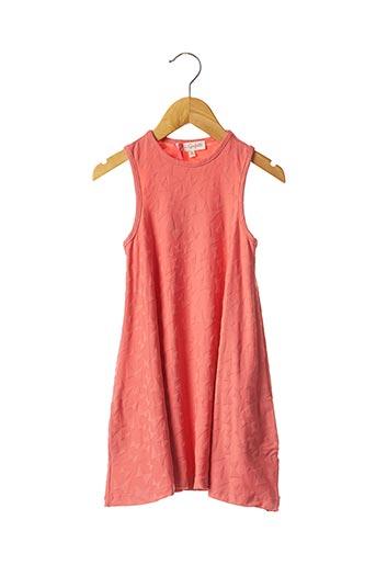 Robe mi-longue rose LILI GAUFRETTE pour fille