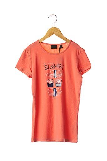 T-shirt manches courtes orange BECKARO pour fille