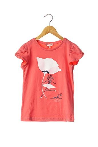T-shirt manches courtes rose LILI GAUFRETTE pour fille