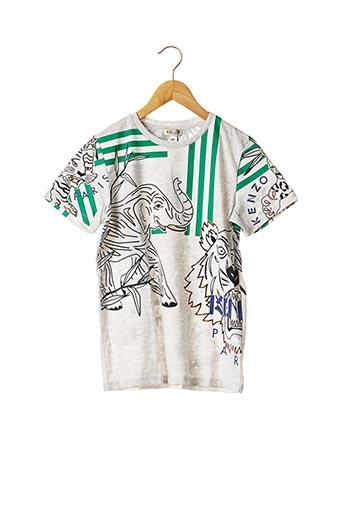 T-shirt manches courtes gris KENZO pour garçon