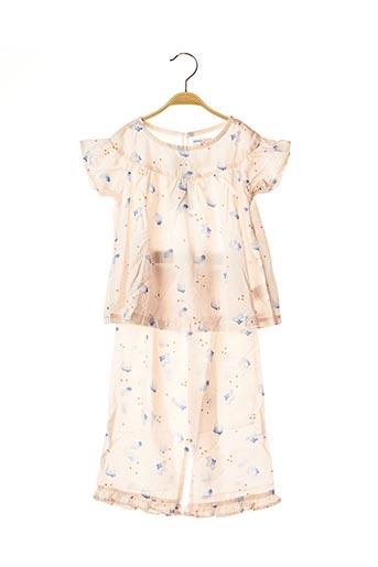 Pyjama rose BALABALA X KIDILIZ pour fille