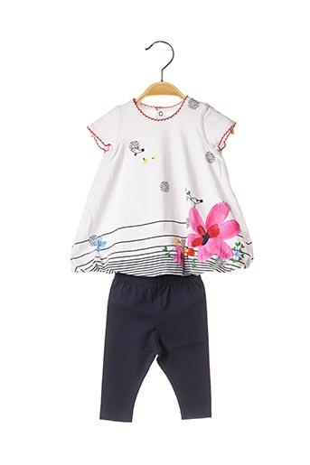 Top/pantalon blanc CATIMINI pour fille