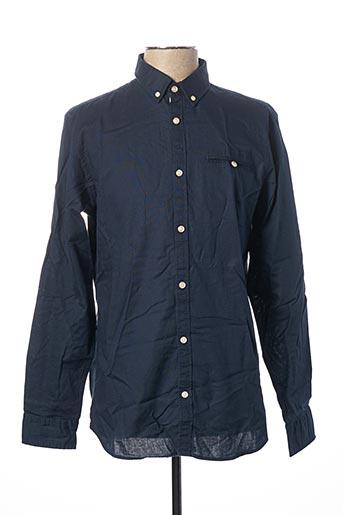 Chemise manches longues bleu #OOTD pour homme