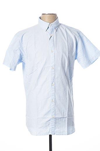 Chemise manches courtes bleu JACK & JONES pour homme