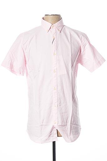 Chemise manches courtes rose JACK & JONES pour homme