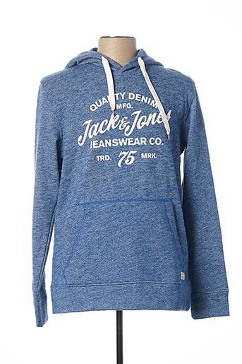 Sweat-shirt bleu JACK & JONES pour homme