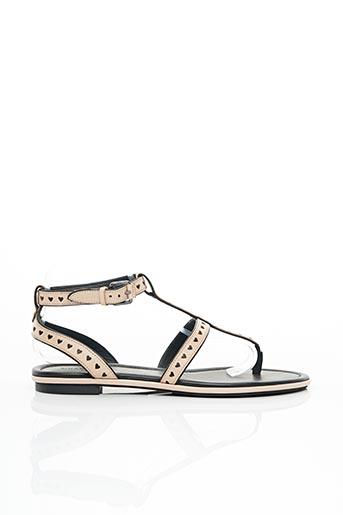 Sandales/Nu pieds rose WHAT FOR pour femme