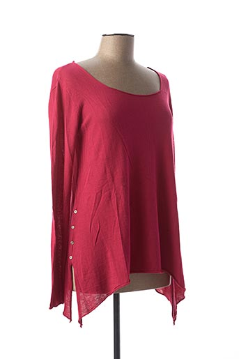 Pull col rond rose HEINE pour femme