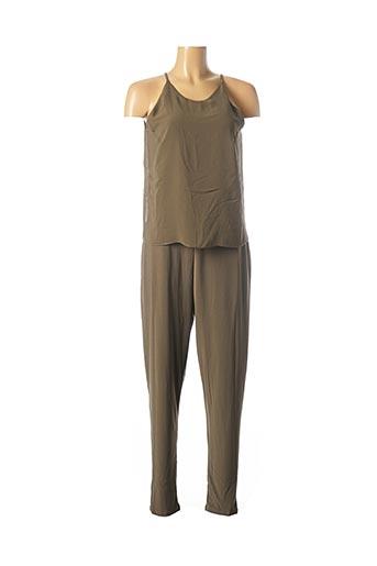 Combi-pantalon vert HEINE pour femme