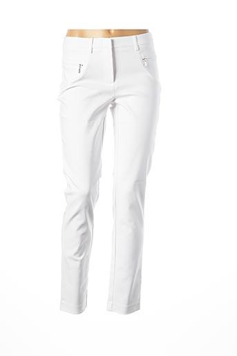 Pantalon chic blanc ASHLEY BROOKE pour femme