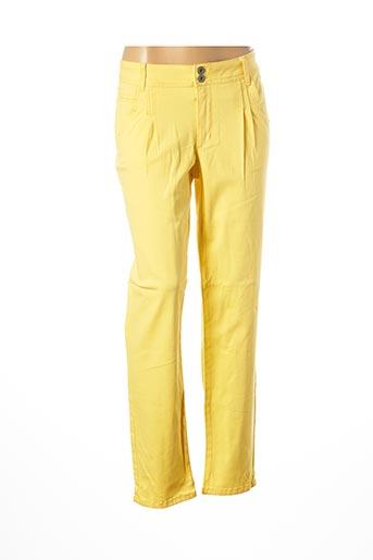 Pantalon casual jaune BEST CONNECTIONS pour femme
