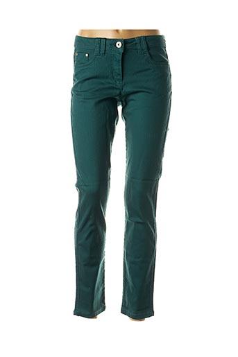 Pantalon casual vert BEST CONNECTIONS pour femme