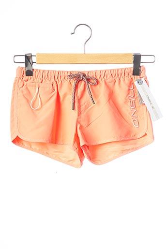 Short orange O'NEILL pour femme