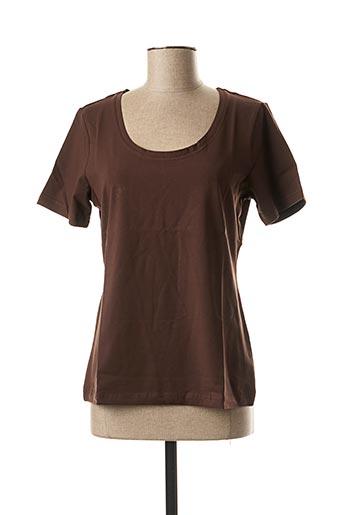 T-shirt manches courtes marron BEST CONNECTIONS pour femme