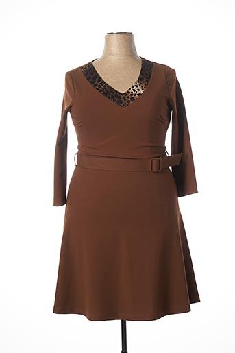 Robe mi-longue marron BATIDA pour femme
