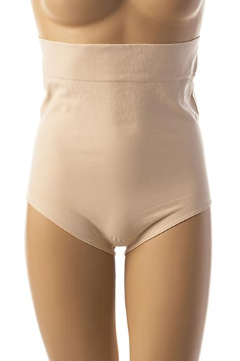 Culotte gainante beige CACHE COEUR pour femme