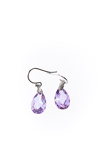 Boucles d'oreilles violet AMBROSIA PARIS pour femme