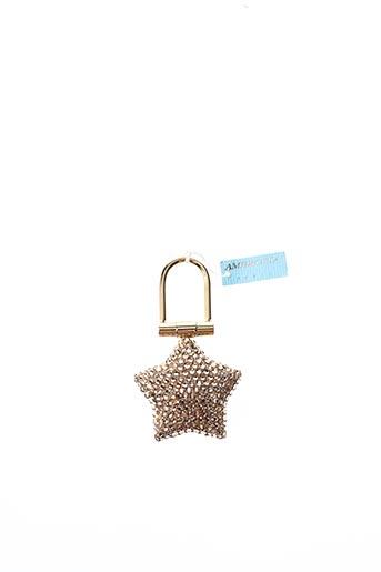 Porte-clé orange AMBROSIA PARIS pour femme