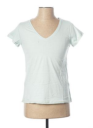 T-shirt manches courtes bleu KANOPE pour femme