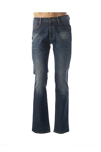 Jeans coupe droite bleu BRUNO SAINT HILAIRE pour homme