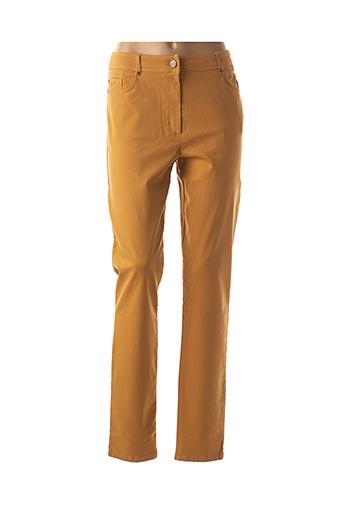 Pantalon casual jaune PAUSE CAFE pour femme