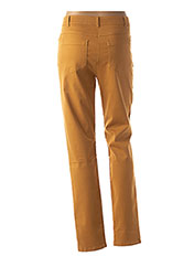 Pantalon casual jaune PAUSE CAFE pour femme seconde vue