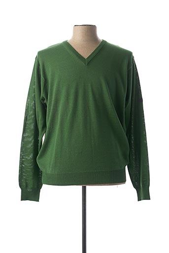 Pull col V vert MONTE CARLO pour homme