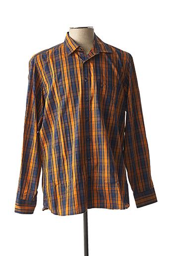 Chemise manches longues orange MARVELIS pour homme