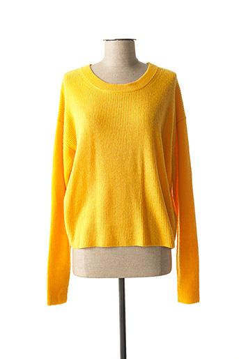 Pull col rond jaune ABSOLUT CASHMERE pour femme