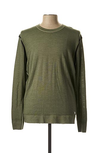 Pull col rond vert C.P. COMPANY pour homme
