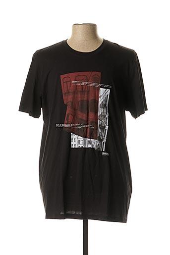 T-shirt manches courtes noir HUGO BOSS pour homme