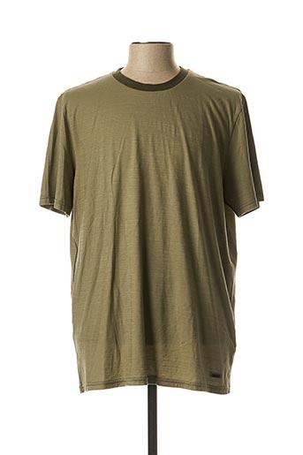 T-shirt manches courtes vert HUGO BOSS pour homme