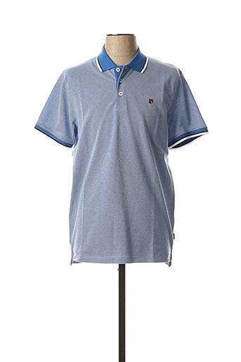 Polo manches courtes bleu JACK & JONES pour homme