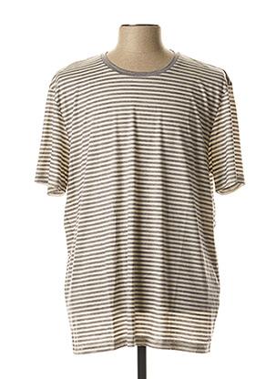 T-shirt manches courtes gris HUGO BOSS pour homme