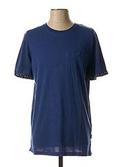 T-shirt manches courtes bleu JACK & JONES pour homme seconde vue