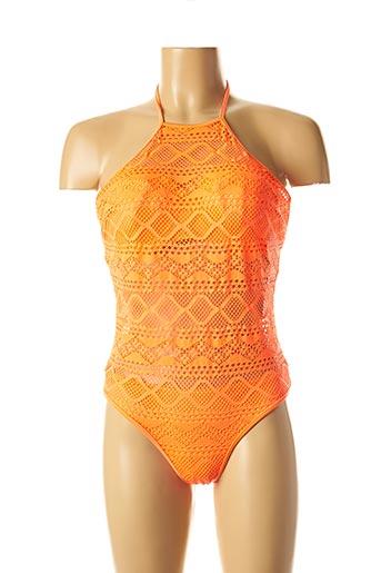 Maillot de bain 1 pièce orange FREYA pour femme