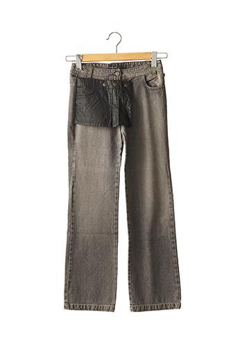 Jeans bootcut gris JEAN BOURGET pour fille