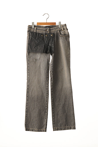 Jeans coupe droite gris JEAN BOURGET pour fille