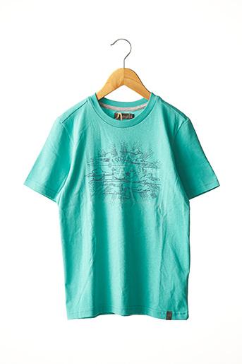 T-shirt manches courtes bleu JEAN BOURGET pour enfant