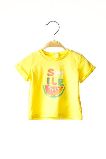 T-shirt manches courtes jaune ABSORBA pour enfant
