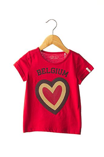 T-shirt manches courtes rouge ESPRIT pour fille