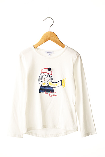 T-shirt manches longues blanc ABSORBA pour fille