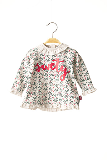 T-shirt manches longues blanc STREET MONKEY pour fille