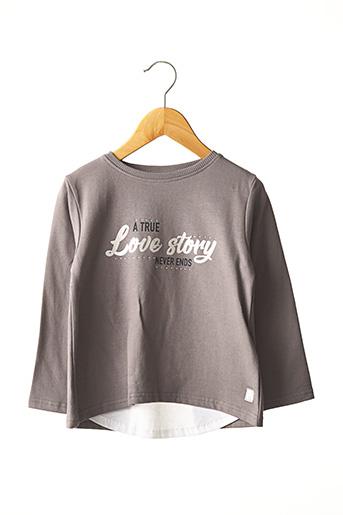 T-shirt manches longues gris STREET MONKEY pour fille