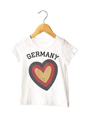 T-shirt manches courtes blanc ESPRIT pour fille