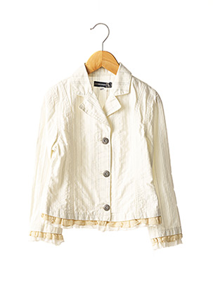 Veste casual beige JEAN BOURGET pour fille