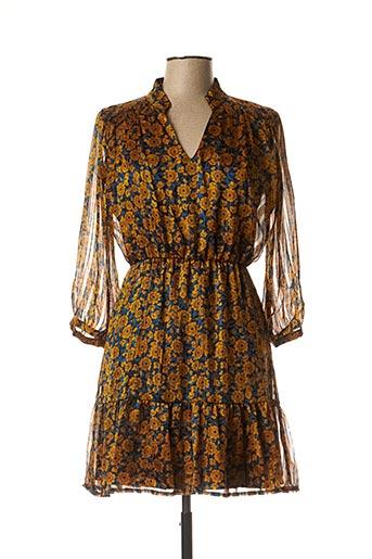 Robe courte jaune RUE DES ABBESSES pour femme