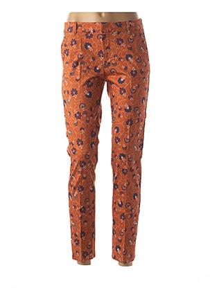 Pantalon 7/8 orange BÔ-M pour femme