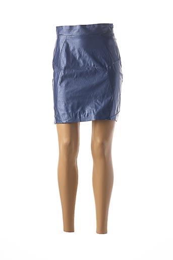 Jupe courte bleu JANE WOOD pour femme