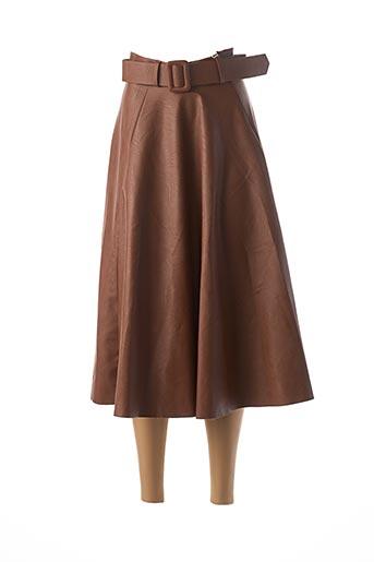 Jupe mi-longue marron ATELIER JAD pour femme